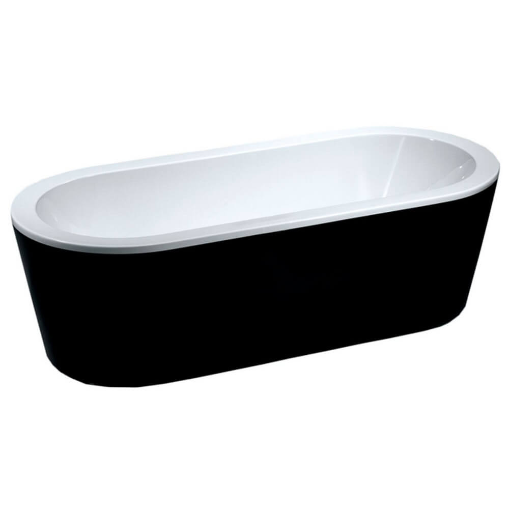 Handleiding Hoekbad Plaatsen.Nero Vrijstaand Ligbad Acryl 178 X 80 X 56 Cm Zwart Wit