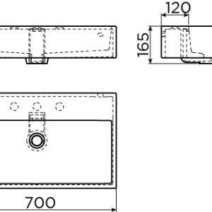 Badkamer Factory online shop   Clou Wash Me wastafel 70cm, zonder ...