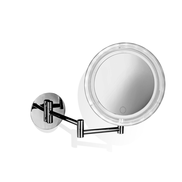 BS 17 TOUCH Cosmetic mirror illuminated - 5x magnification for direct connection-badkamerfactory