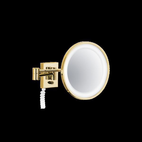 BS 40 PL/V Cosmetic mirror illuminated - 5x magnification-badkamerfactory