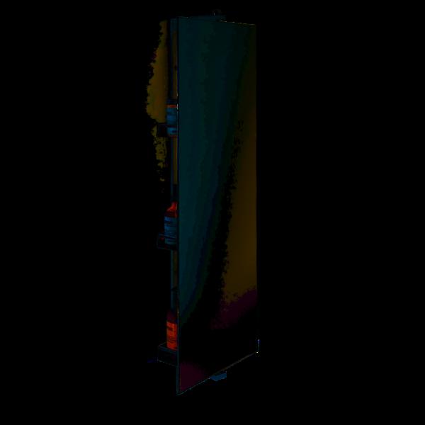SP 31 Mirror revolving - chrome with 3 shelves-badkamerfactory