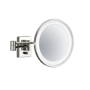 BS 40 PL Cosmetic mirror illuminated - 3x magnification-badkamerfactory