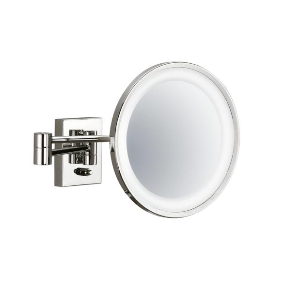 BS 40 PL Cosmetic mirror illuminated - 3x magnification-badkamerfactory