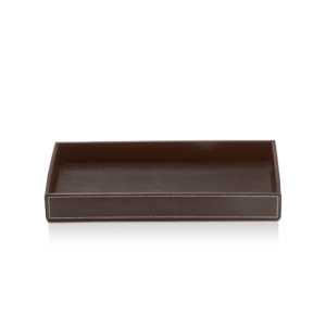 BROWNIE TAB L Tray large - artificial leather-badkamerfactory