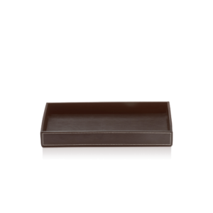 BROWNIE TAB M Tray medium - artificial leather-badkamerfactory