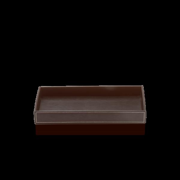 BROWNIE TAB M Tray medium - artificial leather-badkamerfactory