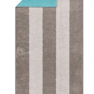 CAWÖ-Sauna laken-80x200 cm-Grijs/Turquoise