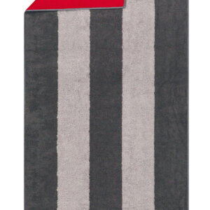 CAWÖ-Sauna laken-80x200 cm-Grijs/Rood
