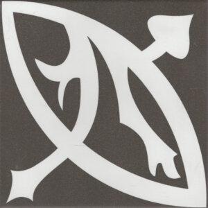 Douglas & Jones Vintage Zelie Noir Tegelstroken 20x20cm
