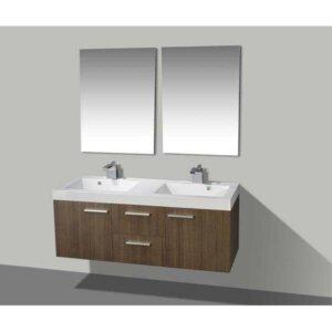 X-Line Badmeubel California 131 Cm Grey Oak Met Spiegels | Badmeubelsets