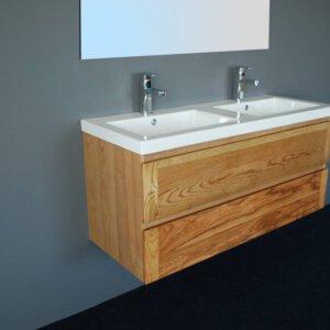 X-Line Badmeubel Wood Keramiek 120 Cm | Badmeubelsets